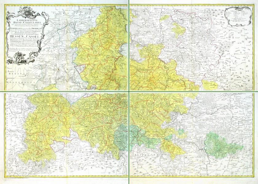 Landgrafiatvs Hasso-Cassellanvs  Landgrafschaft Hessen-Cassel - Stará mapa
