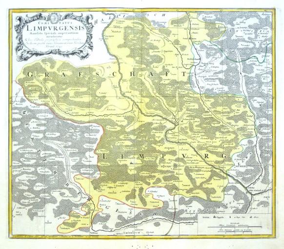 Comitatus Limpvrgensis - Alte Landkarte