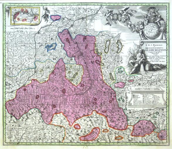 Salzburg - S.R.I. Principat. et Archiepiscopatus Salisburgensis - Antique map
