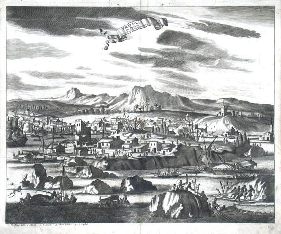 Tripolis in Syrien - Alte Landkarte