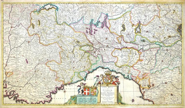 Sedes Belli in Italia - Stará mapa