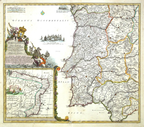 Portugalliae et Algarbiae - Stará mapa