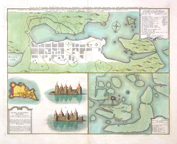 Plan der fürnehmsten Finnischen Vestungen - Alte Landkarte