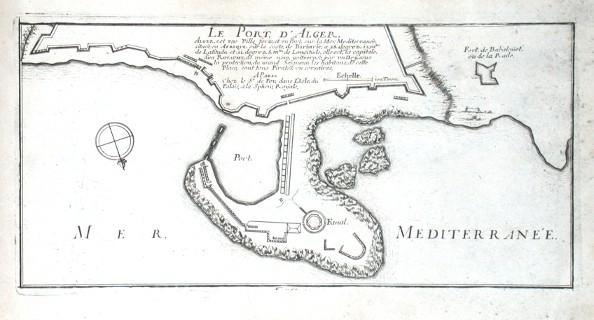 Le Port d'Alger - Stará mapa