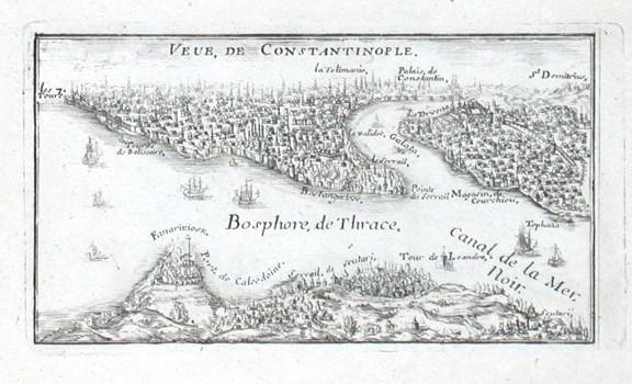 Veue, de Constantinople - Stará mapa