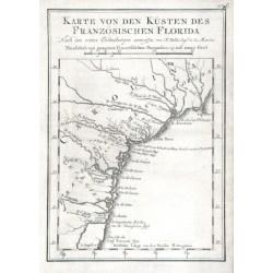 Karte von den Küsten des Französischen Florida