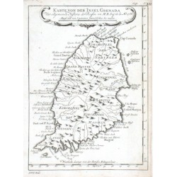 Karte von der Insel Grenada