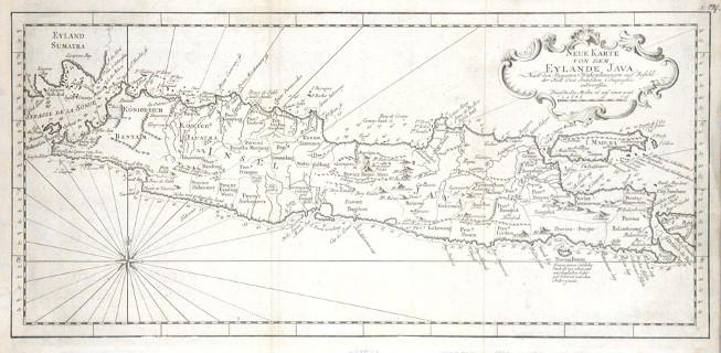 Neue Karte von dem Eylane Java - Alte Landkarte