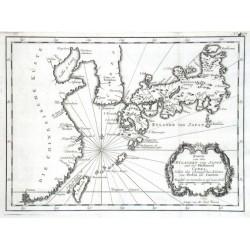 Karte von den Eylanden von Japon