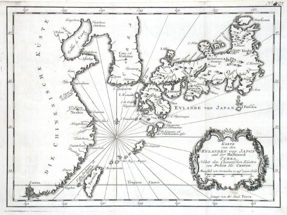 Karte von den Eylanden von Japon - Stará mapa