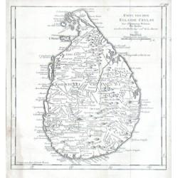 Karte von dem Eylande Ceylan