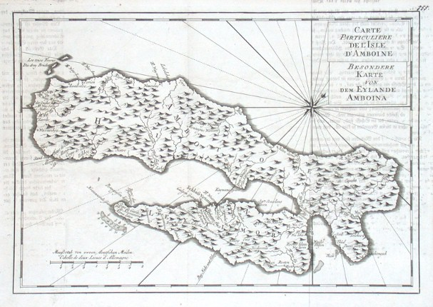 Carte Particuliere de l'Isle d'Amboine - Besondere Karte von dem Eylande Amboina - Stará mapa
