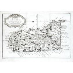 Karte der Insel St. Lucia