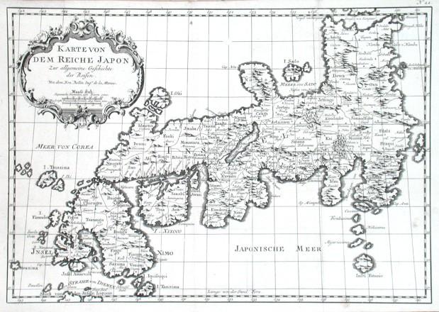 Karte von dem Reiche Japon - Alte Landkarte