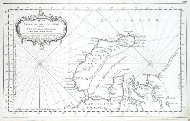 Stück von dem Eis-meere welches Neu Zembla und das Land der Samoieden enthelt - Stará mapa