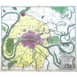 Paris - Typus Choro- Topographicus  celeberrimae Urbis Lutetiae Parisiorum