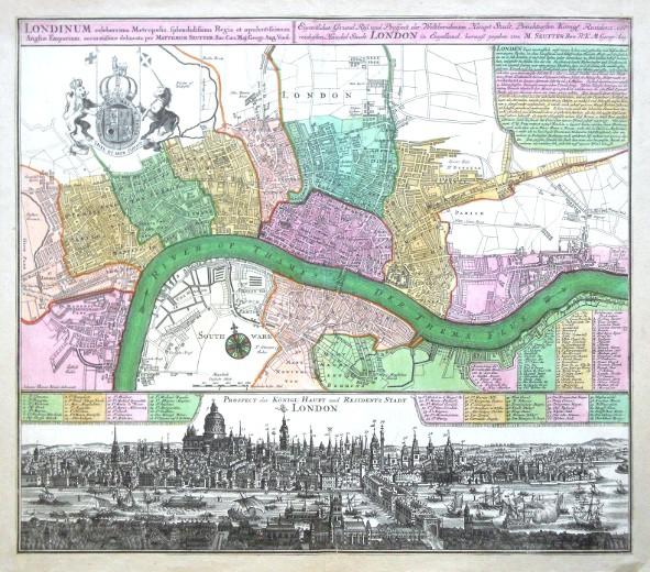 Londinum  - London - Alte Landkarte