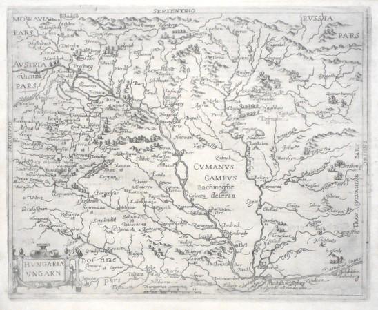 Hvngaria Vngarn - Alte Landkarte
