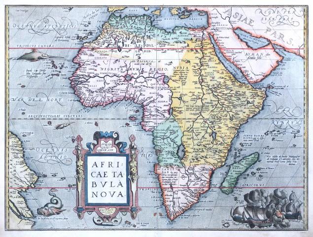 Afrika - Africae Tabula Nova - Alte Landkarte