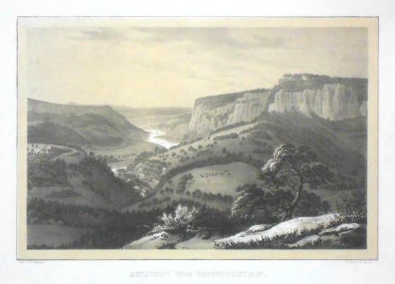Bastei - Aussicht vom Gamrichstein - Alte Landkarte