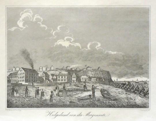 Helgoland von der Morgenseite - Alte Landkarte