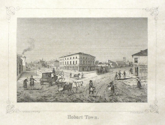 Hobart Town - Antique map