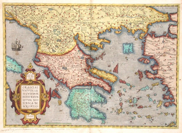 Greece - Graeciae universae secundum hodiernum situm neoterica descriptio - Antique map