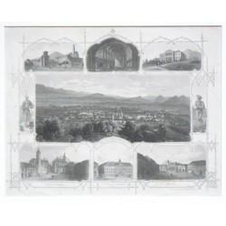 Brüx vom Schlossberge aus