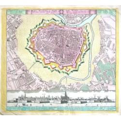 Die Kays. Residentz- u. Haubt- Stadt Wien  Plan u. Prospect