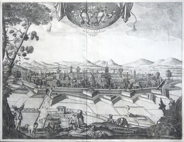 Luca. Lucques - Alte Landkarte