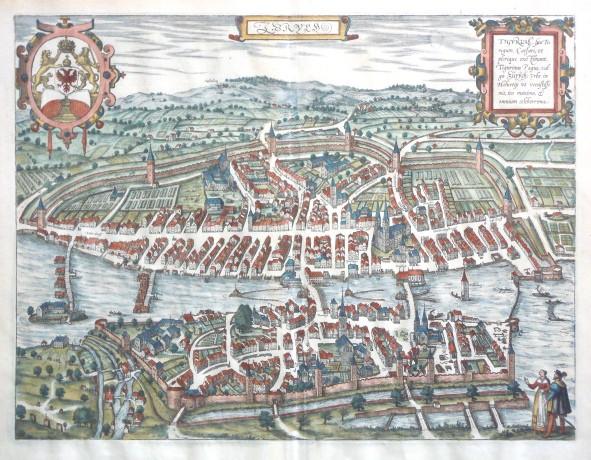 Zurych. Tigurum, sive Turegum - Stará mapa
