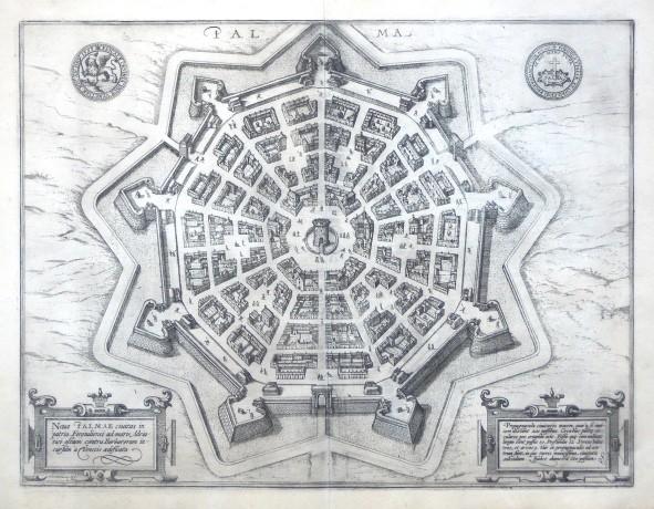 Palma. Nova Palmae civitatis in patria Foroiuliensis ad maris Adriatici - Stará mapa