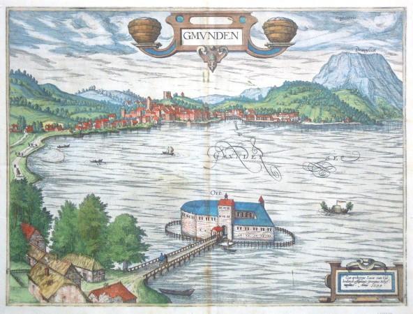 Gmunden - Alte Landkarte
