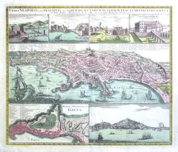 Vrbis Neapolis cum - Stará mapa