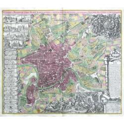 Rome - Veteris et Moderna urbis Romae Ichonographia et Accurta Designatio
