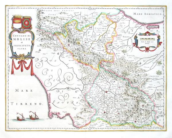 Contado di Molise et Principato Vltra - Alte Landkarte