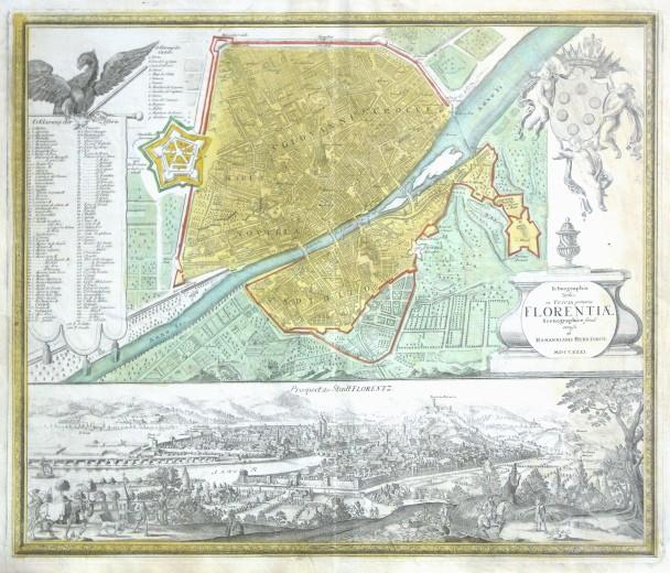 Ichnographia Urbis in Tuscia primariae Florentiae - Stará mapa