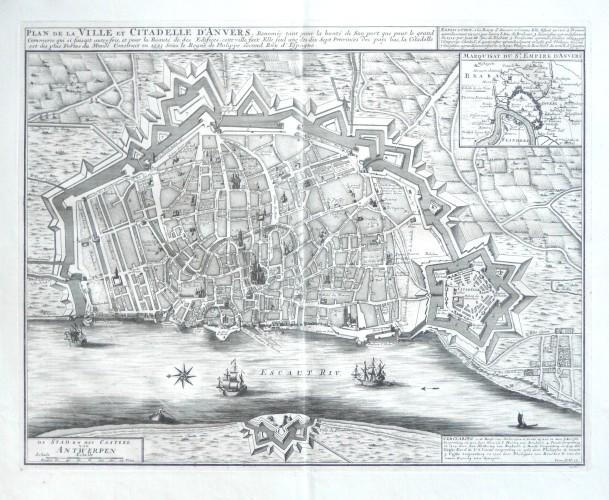 Plan de la Ville et Citadelle d'Anvers  - De Stad en het Casteel van Antwerpen - Stará mapa