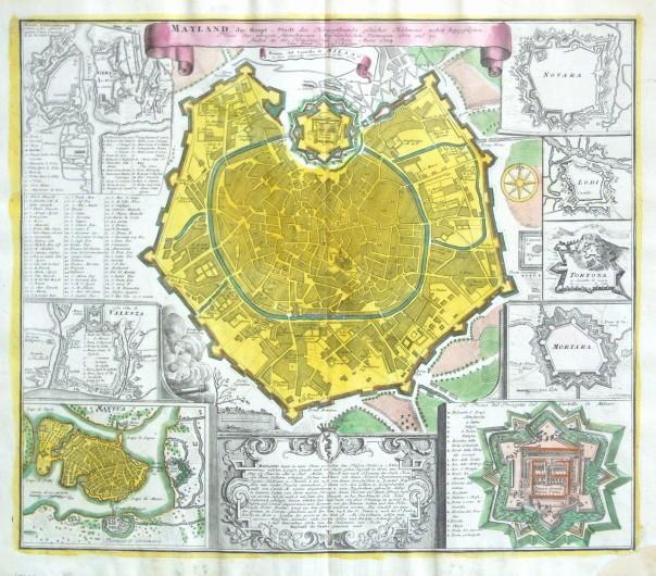 Mayland, die Haupt - Stadt des Herzogthumbs gleiches Nahmens - Stará mapa