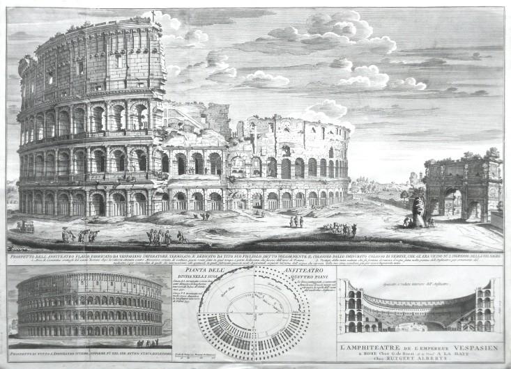 L'Amphiteatre de L'Empereur Vespasien - Stará mapa
