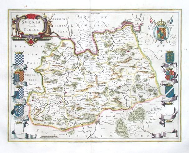 Svrria vernacule Svrrey - Stará mapa