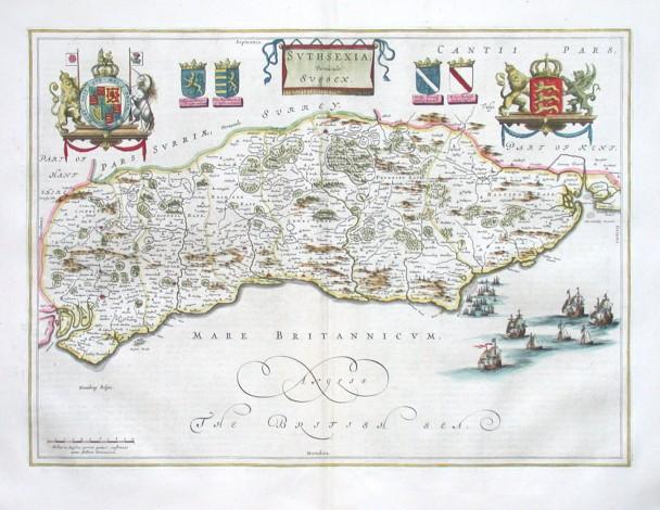 Svthsexia - Vernacule Sussex - Stará mapa