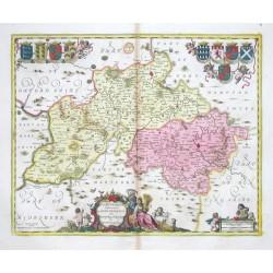 Buckingamiae comitatvs cum Dedfordiensi - vulgo Buckingamshire and Bedfordshire