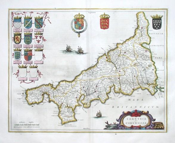 Cornvbia. Sive Cornwallia - Stará mapa