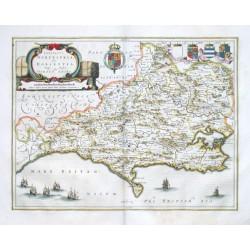 Comitatvs Dorcestria, sive Dorsettia - Vulgo Anglice Dorset Shire