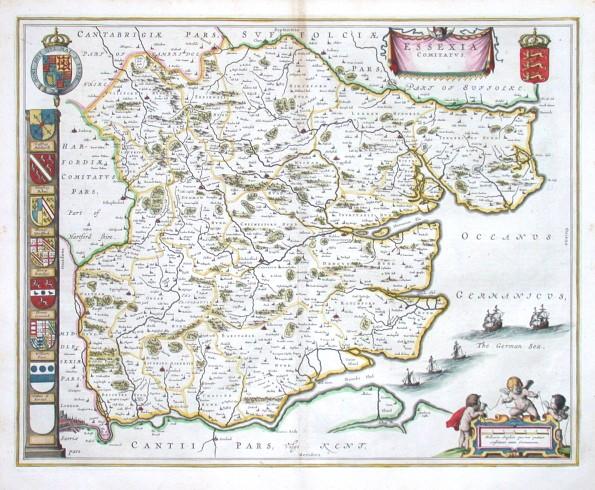 Essexia Comitatvs - Stará mapa