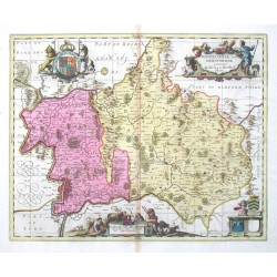 Middelsexiae cum Hertfodiae comitatu - Midlesex & Hertford Shire