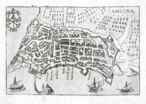Ancona - Antique map