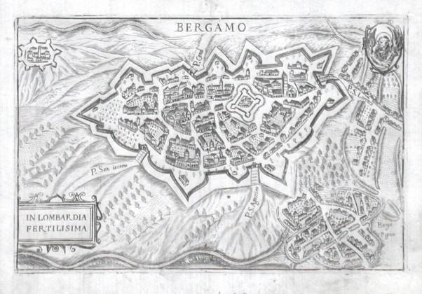 Bergamo - Alte Landkarte