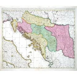 Dalmatia, Sclavonia, Croatia, Bosnia, Servia et Istria distributa in singulares ditiones et dioeceses una cum republica